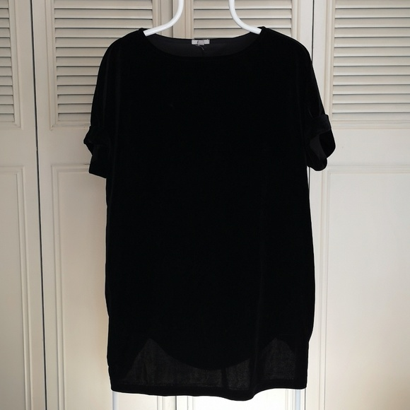Ecote Dresses & Skirts - Black Velvet Ecote Tunic / Mini Dress M